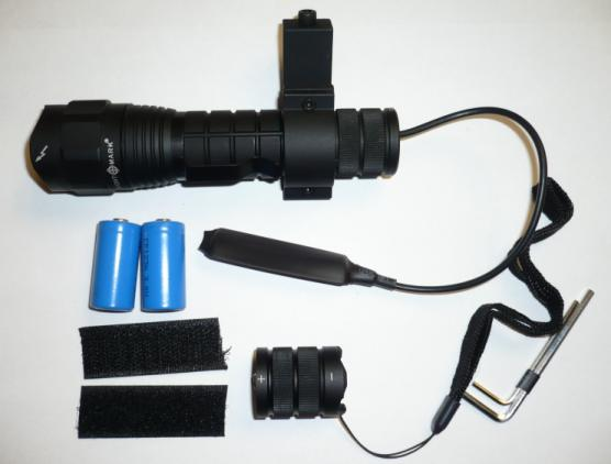 Items included with Sightmark Flashlight